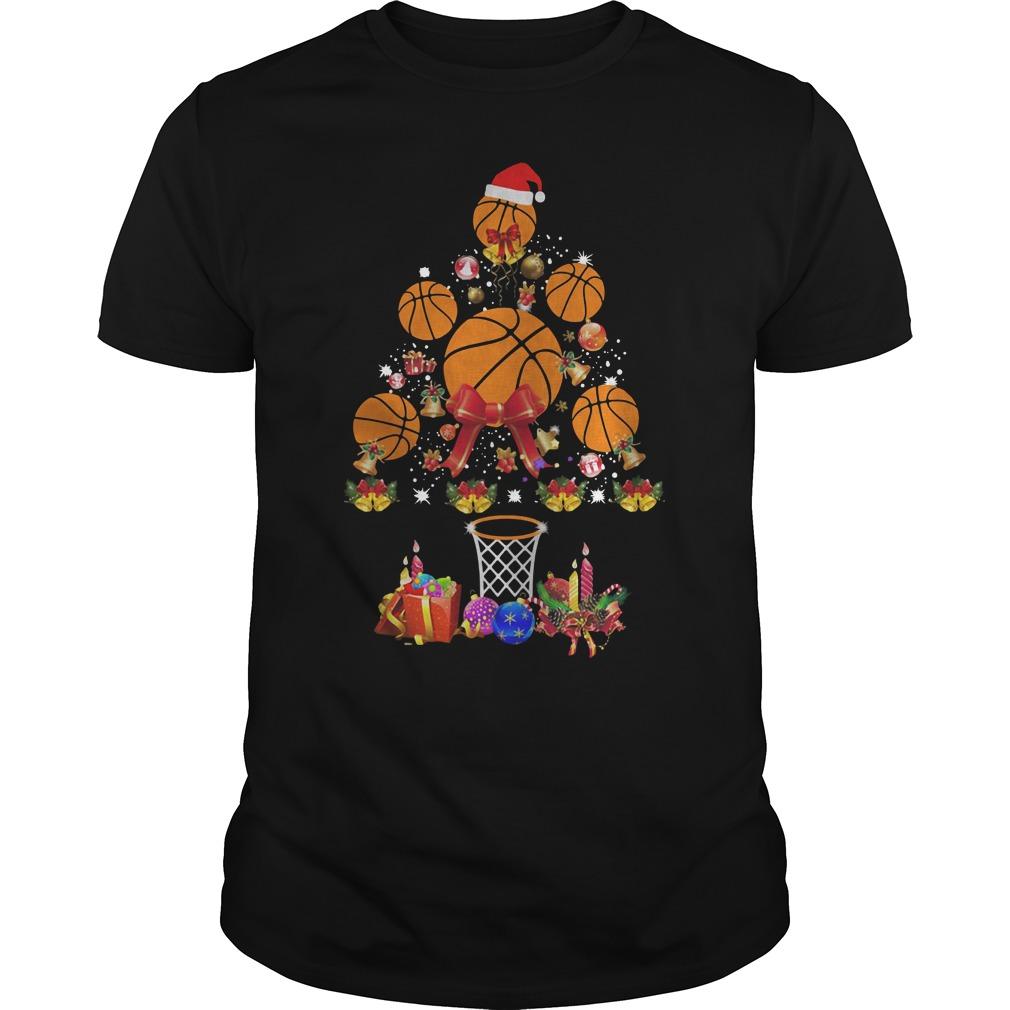 Baseball Christmas tree Guys Shirt