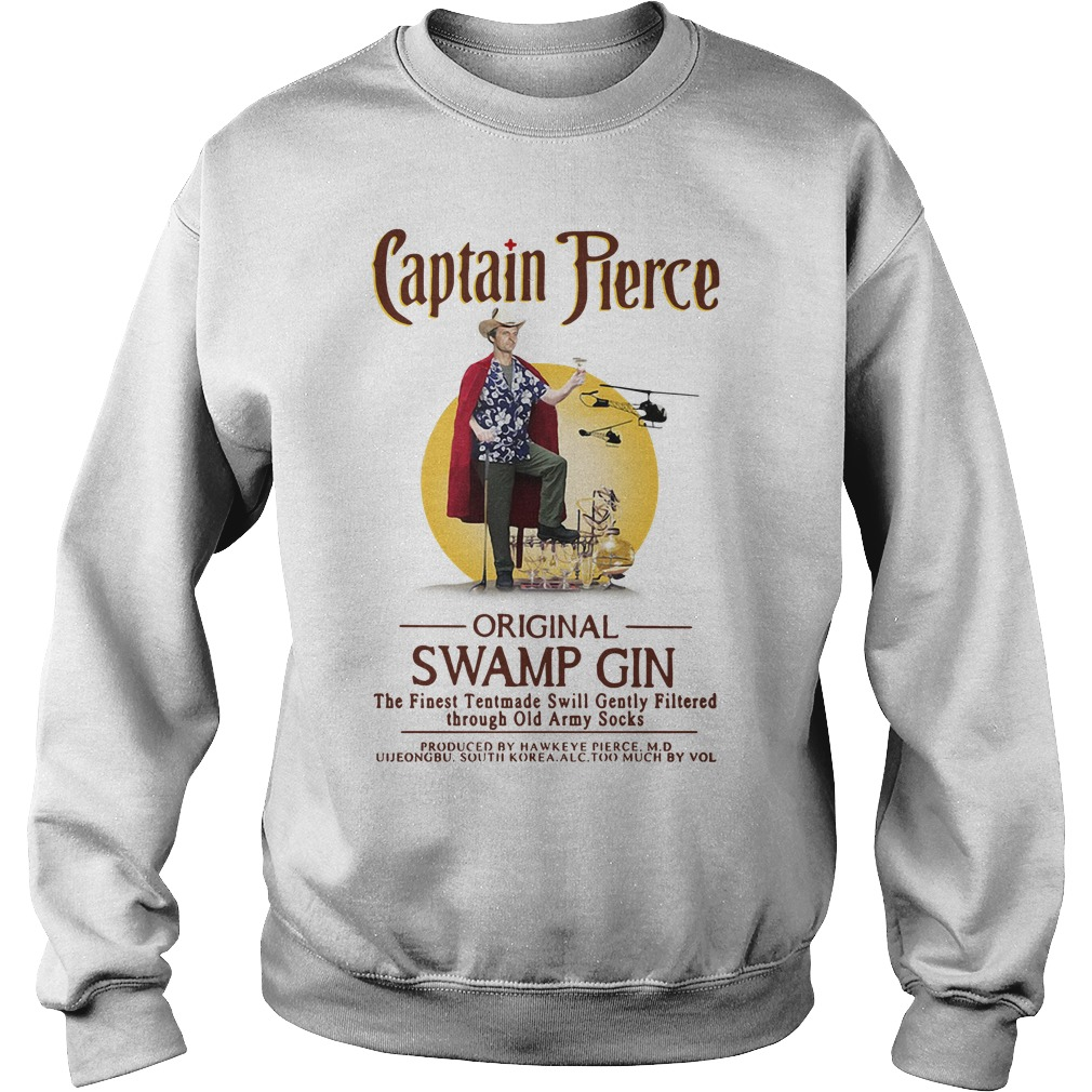 Captain Pierce original swamp gin the finest tentmade swill Sweater