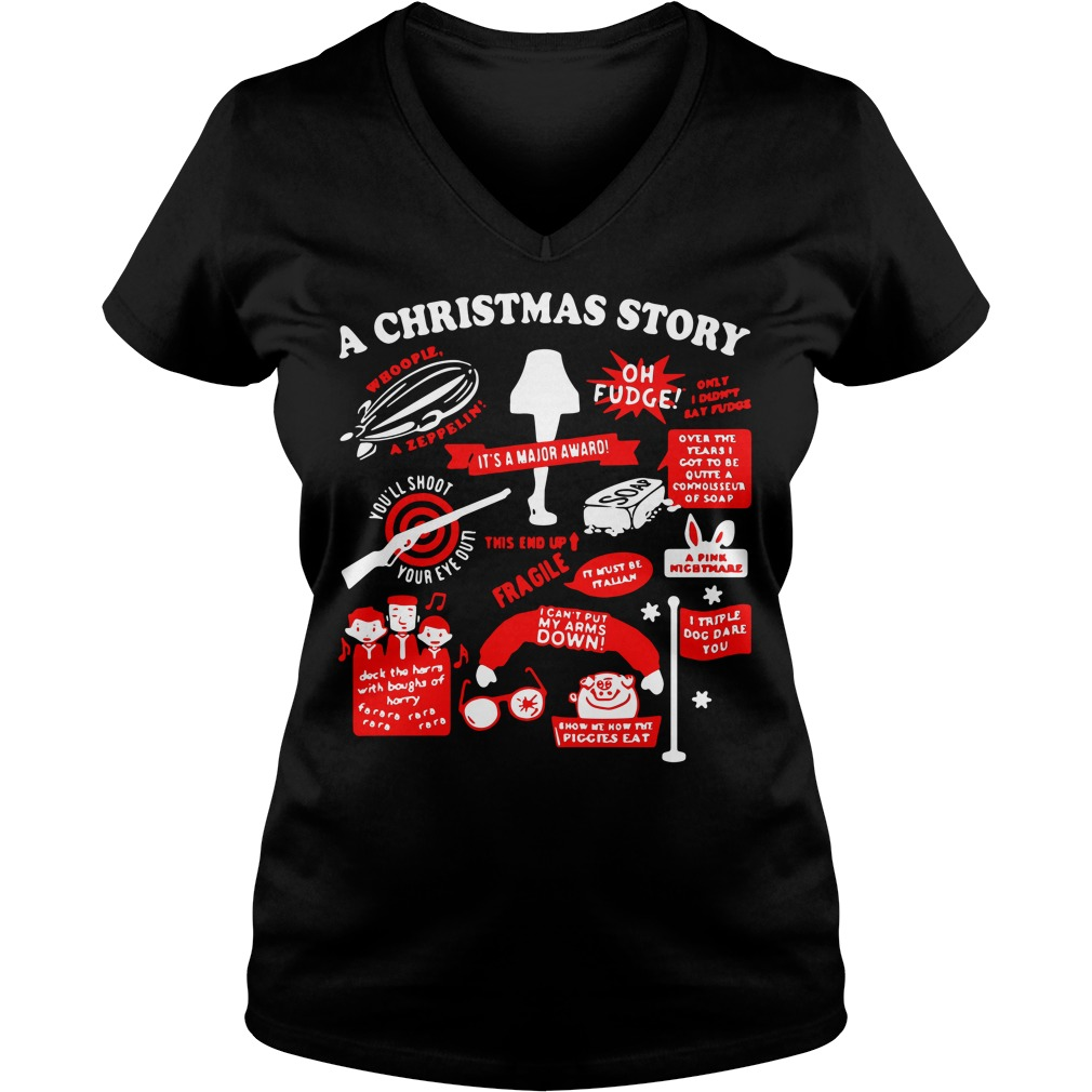 A Christmas story V-neck T-shirt