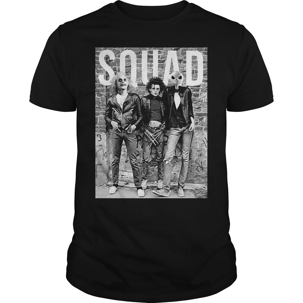 Chucky Edward Scissorhands Jack Skellington Halloween Squad Guys Shirt