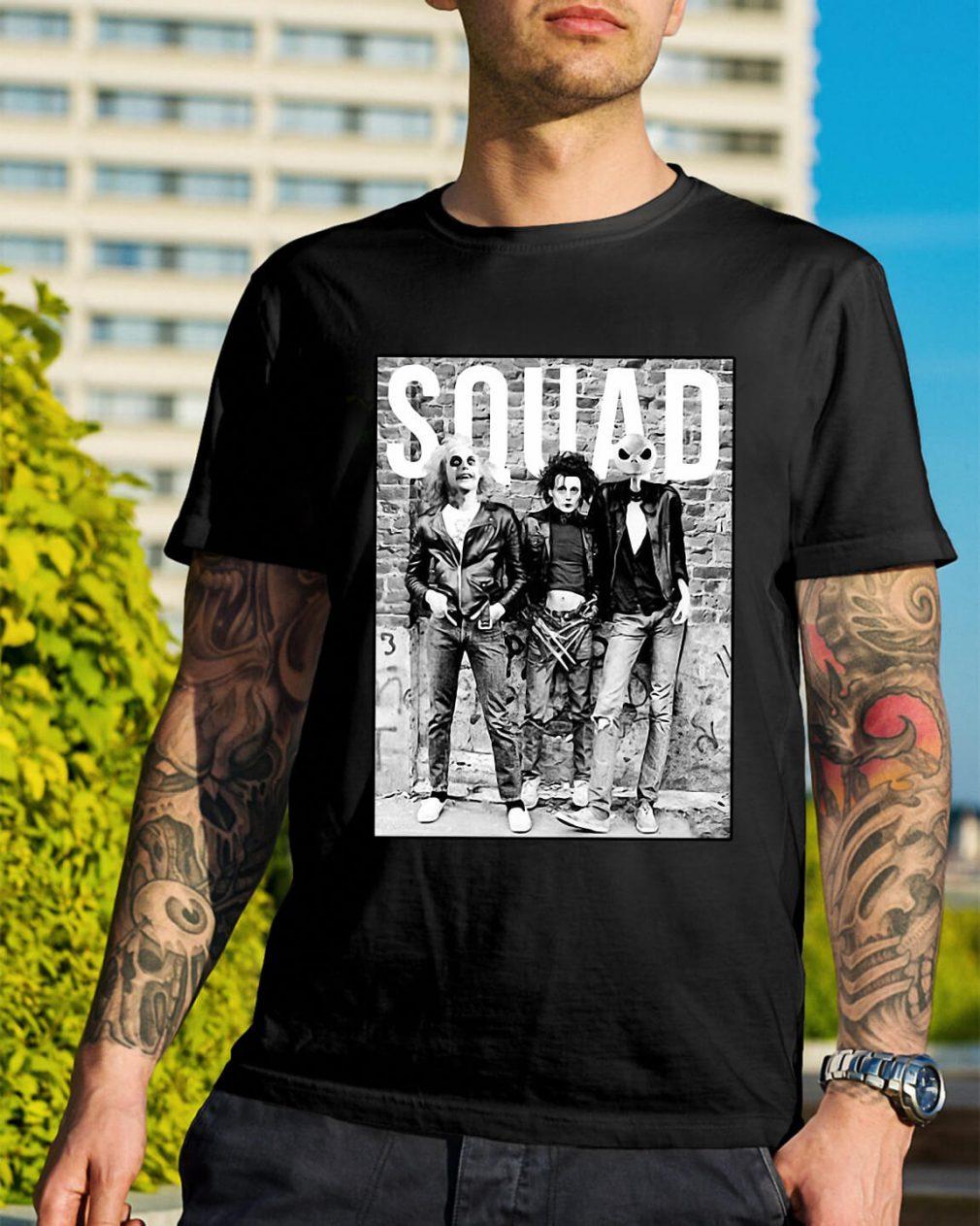 Chucky Edward Scissorhands Jack Skellington Halloween Squad shirt