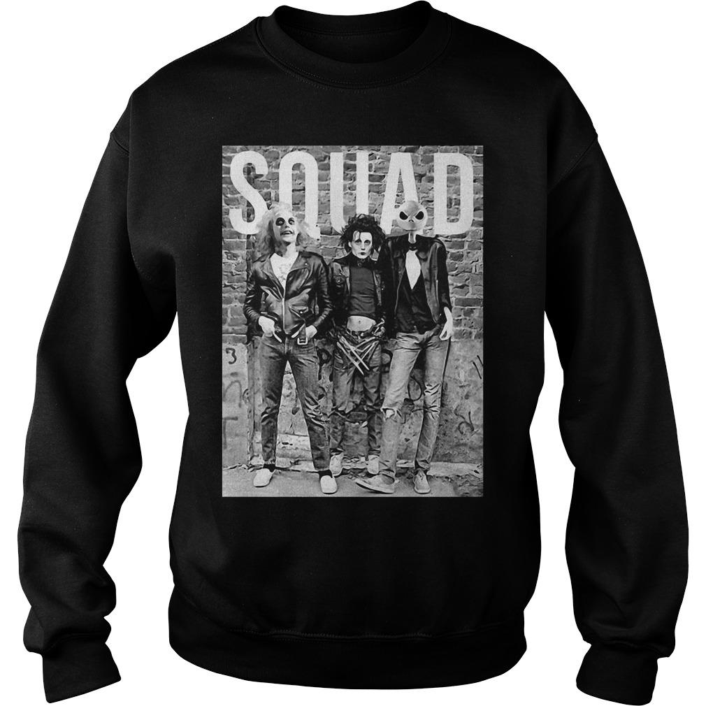 Chucky Edward Scissorhands Jack Skellington Halloween Squad Sweater