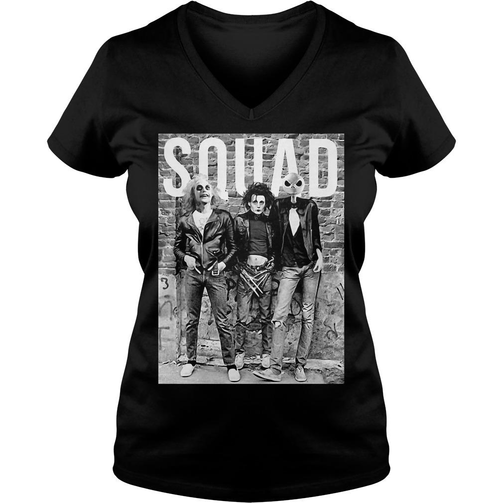 Chucky Edward Scissorhands Jack Skellington Halloween Squad V-neck T-shirt