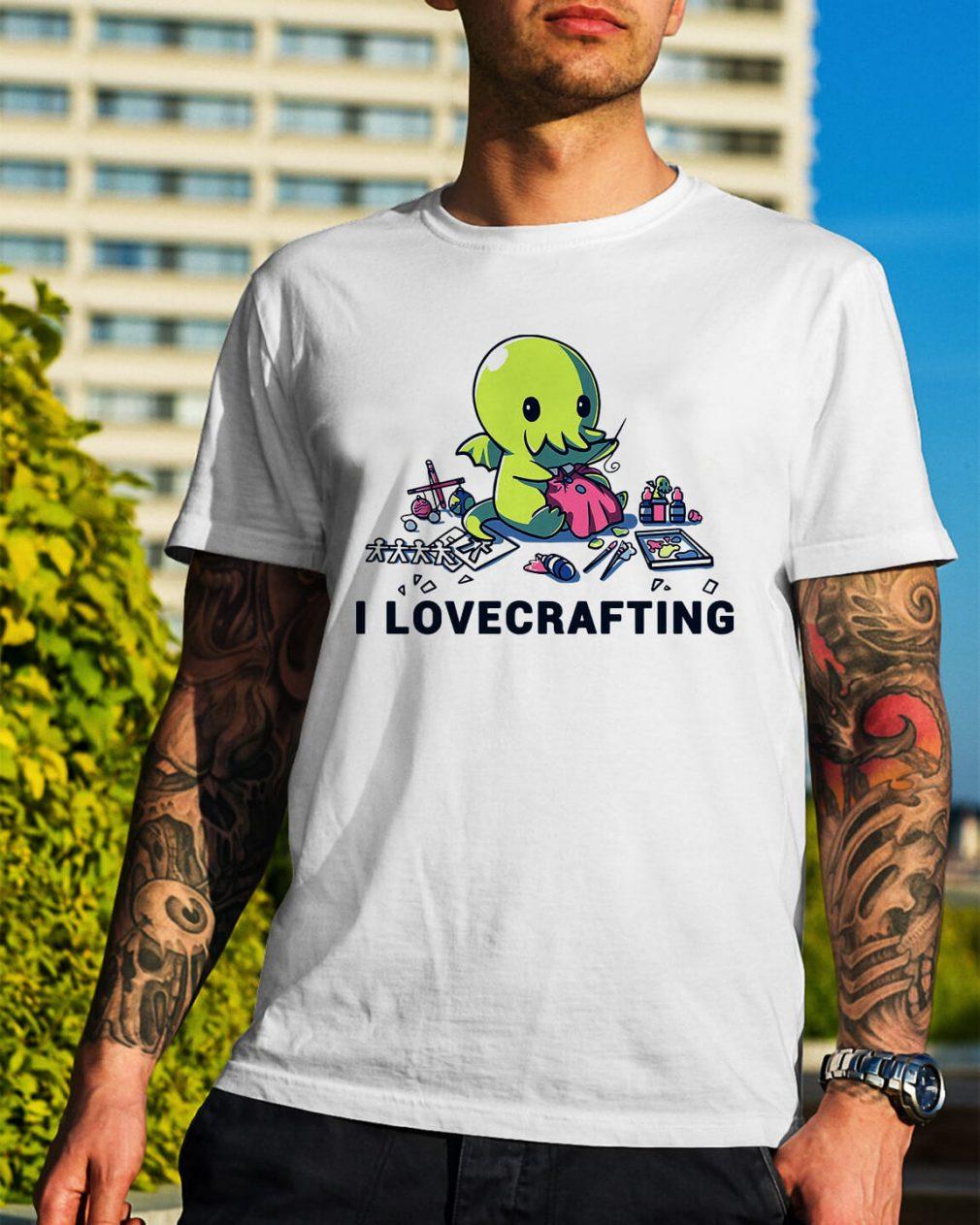 Cthulhu I love crafting shirt