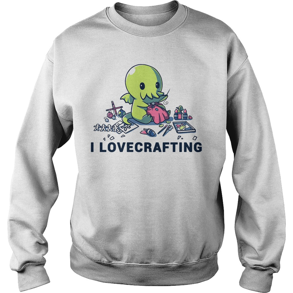 Cthulhu I love crafting Sweater