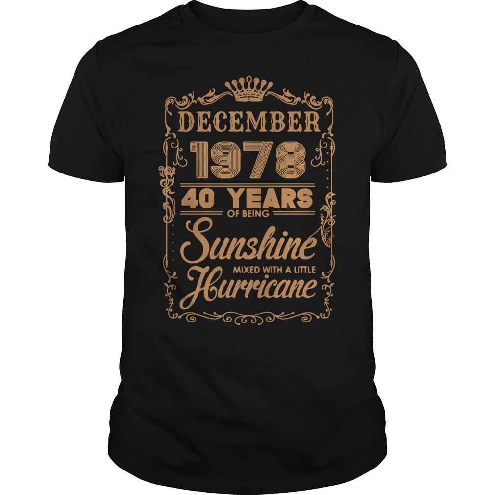 December 1978 40 years of being sunshine mixed Guys Shirt
