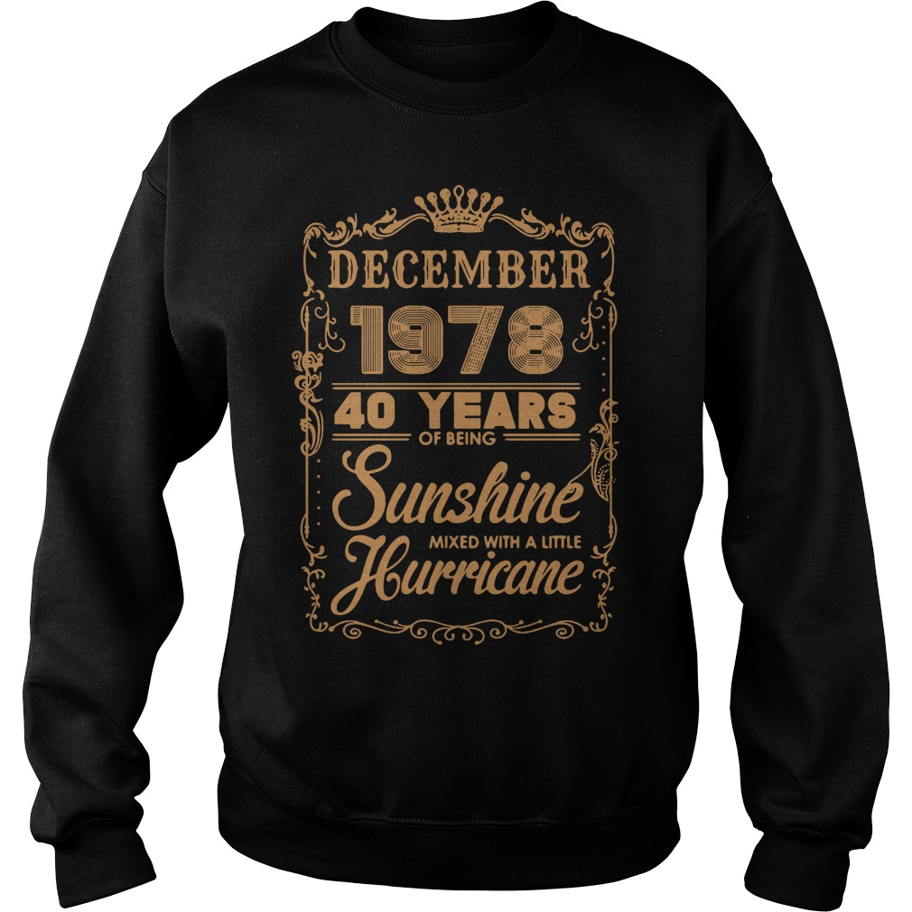 December 1978 40 years of being sunshine mixed Sweater