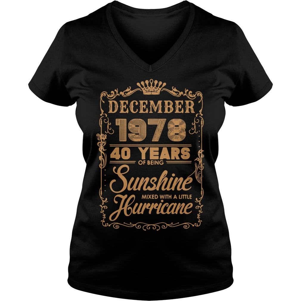 December 1978 40 years of being sunshine mixed V-neck T-shirt