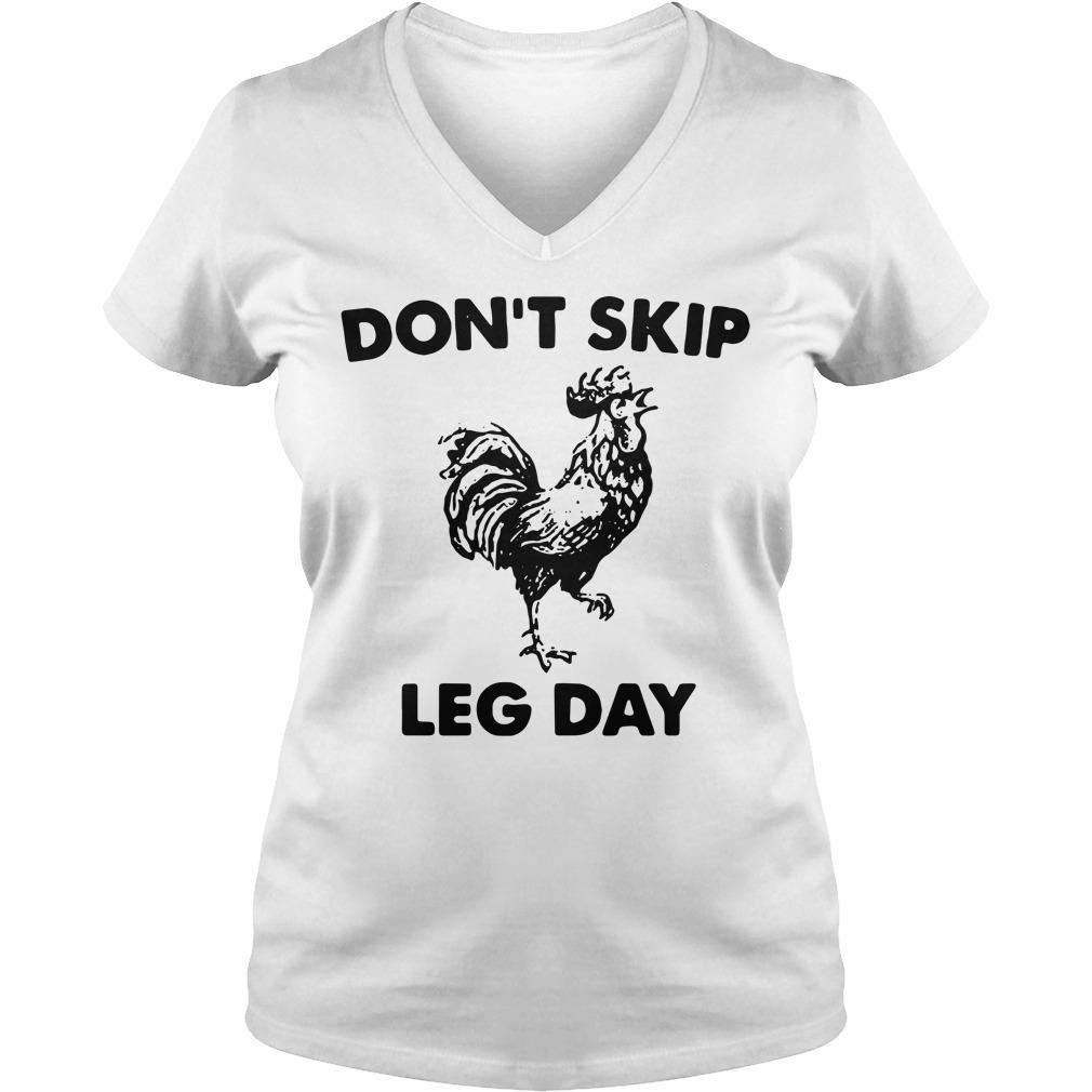 Don't skip leg day V-neck T-shirt