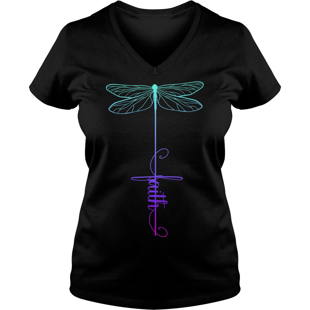 Dragonfly faith V-neck T-shirt