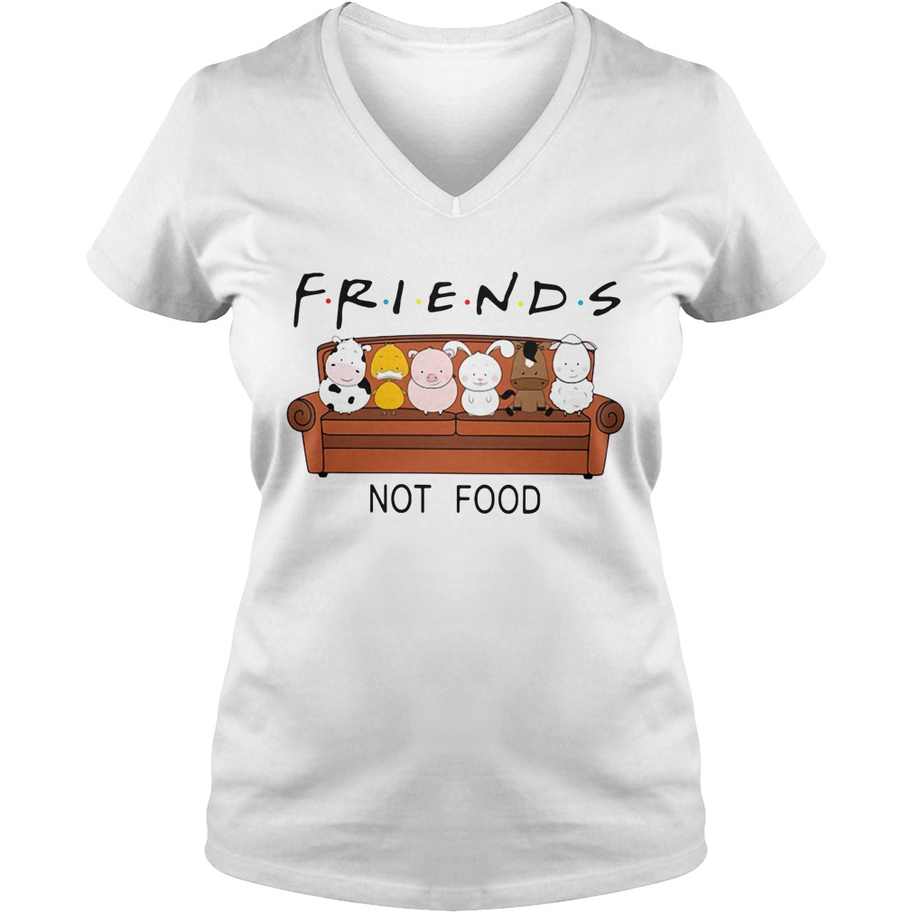 F.r.i.e.n.d.s not food V-neck T-shirt