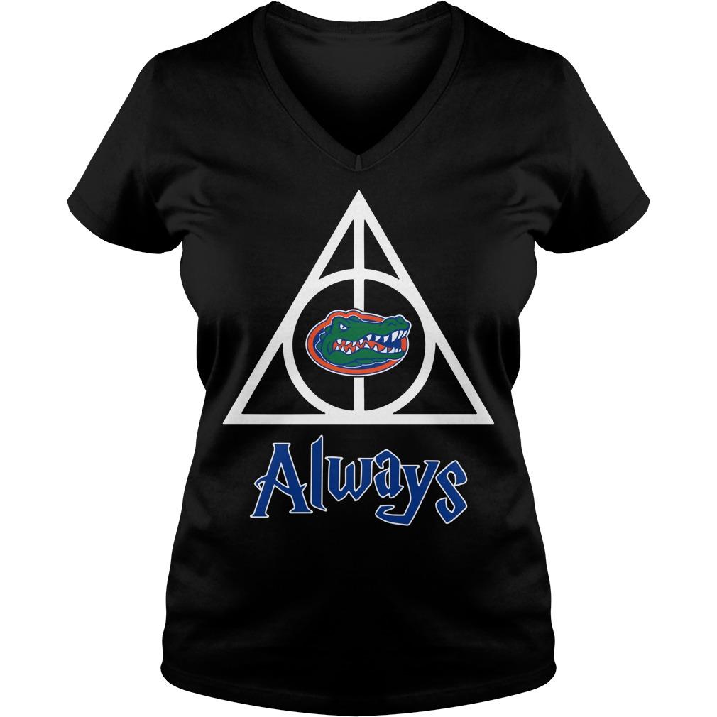 Florida Gators Deathly Hallows always Harry Potter V-neck T-shirt