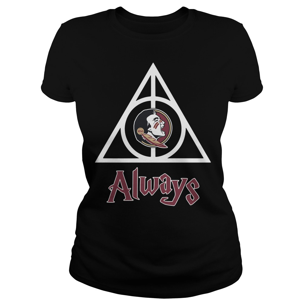 Florida State Seminoles Deathly Hallows always Harry Potter Ladies Tee