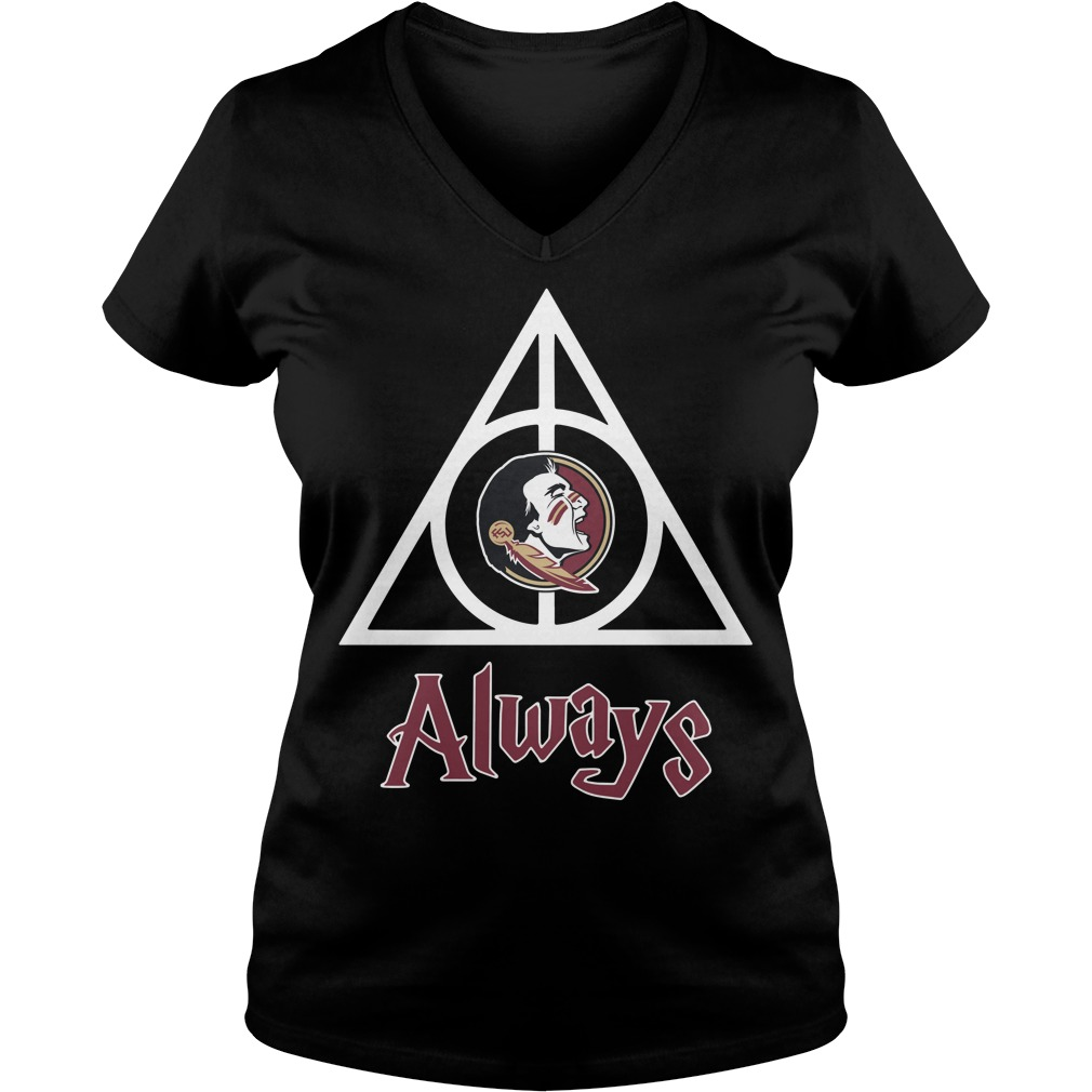 Florida State Seminoles Deathly Hallows always Harry Potter V-neck T-shirt