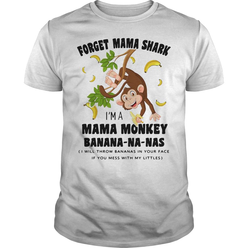Forget Mama shark I'm a Mama monkey banana-na-nas Guys Shirt