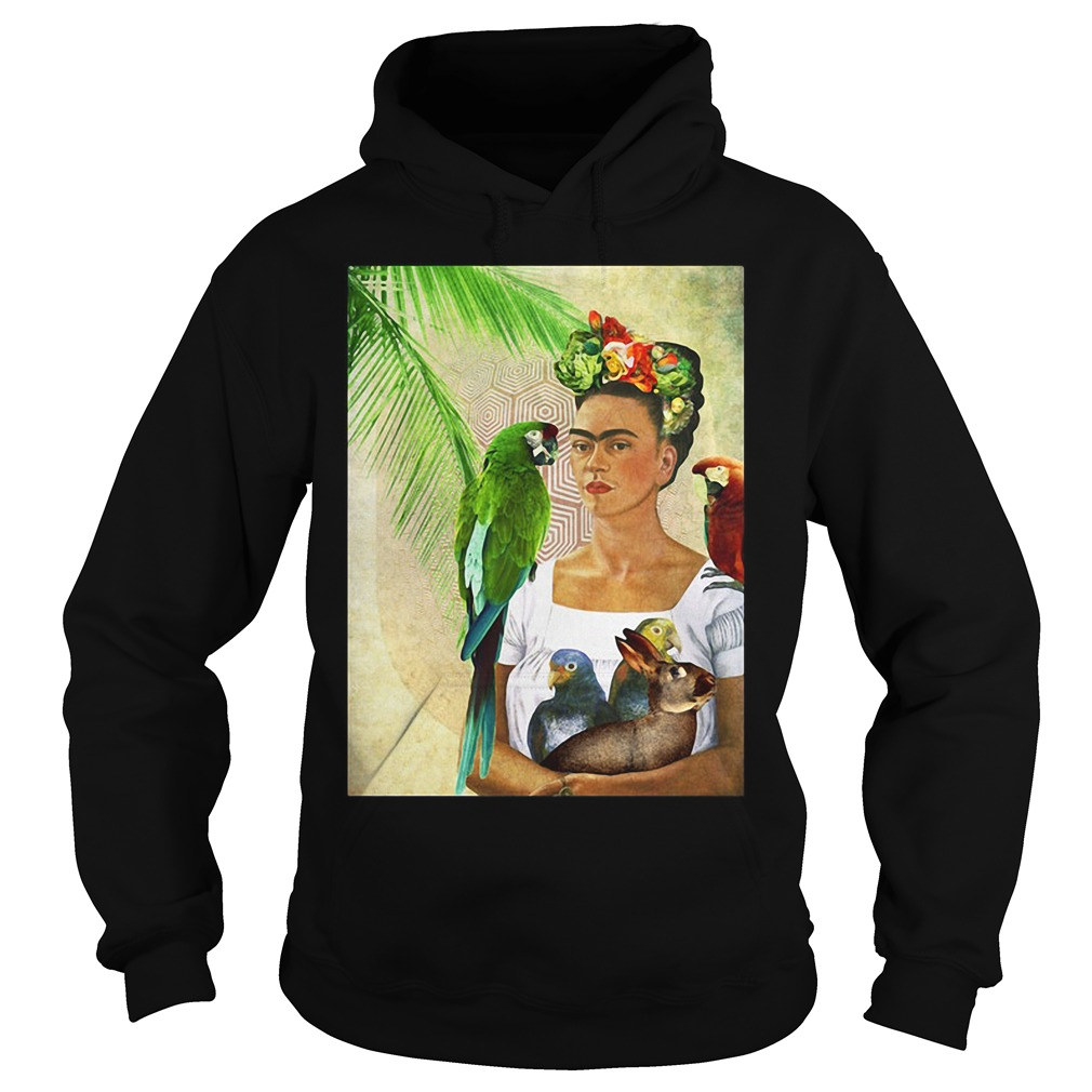 Frida Kahlo Me and My Parrot Hoodie