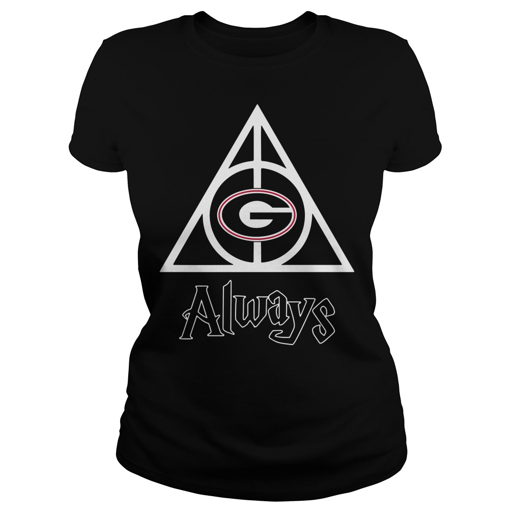Georgia Bulldogs Deathly Hallows always Harry Potter Ladies Tee
