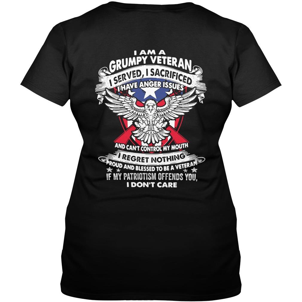 I am a Grumpy Veteran I served I sacrificed I have anger issues V-neck T-shirt