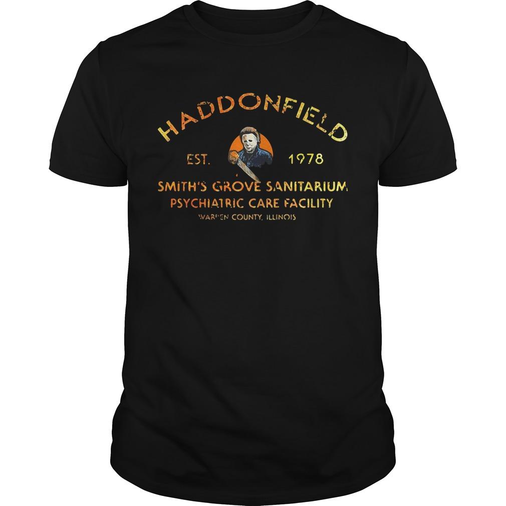 Haddonfield EST 1978 Smith's Grove Sanitarium Guys Shirt