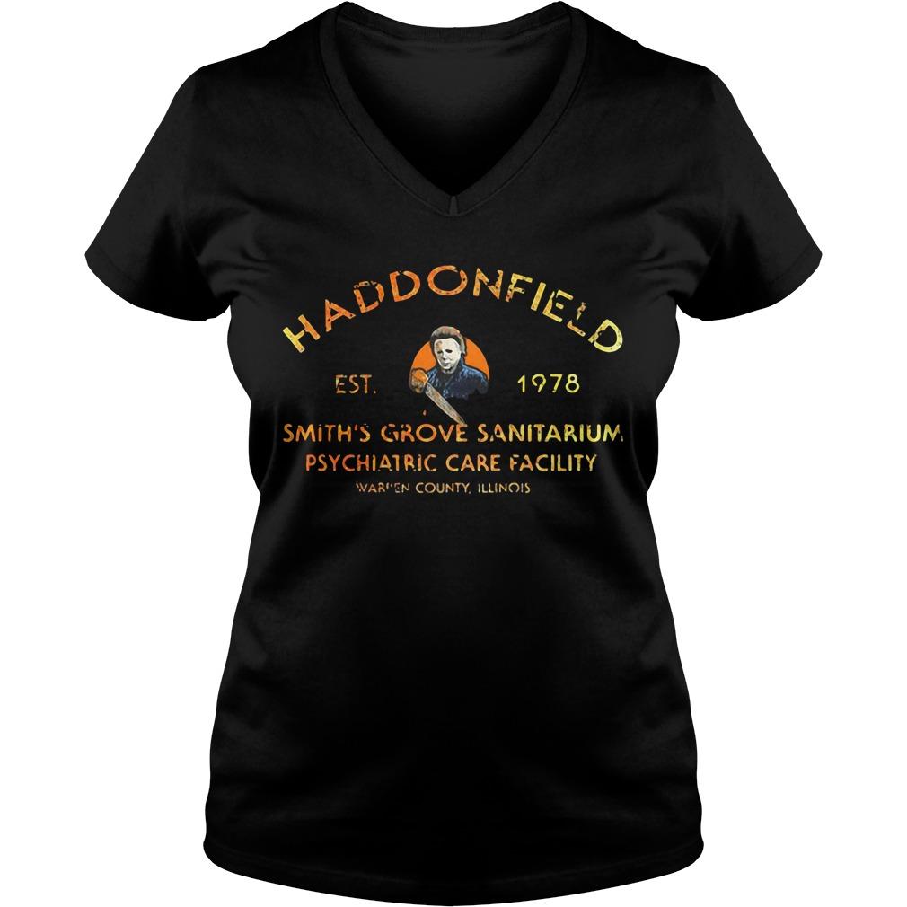 Haddonfield EST 1978 Smith's Grove Sanitarium V-neck T-shirt