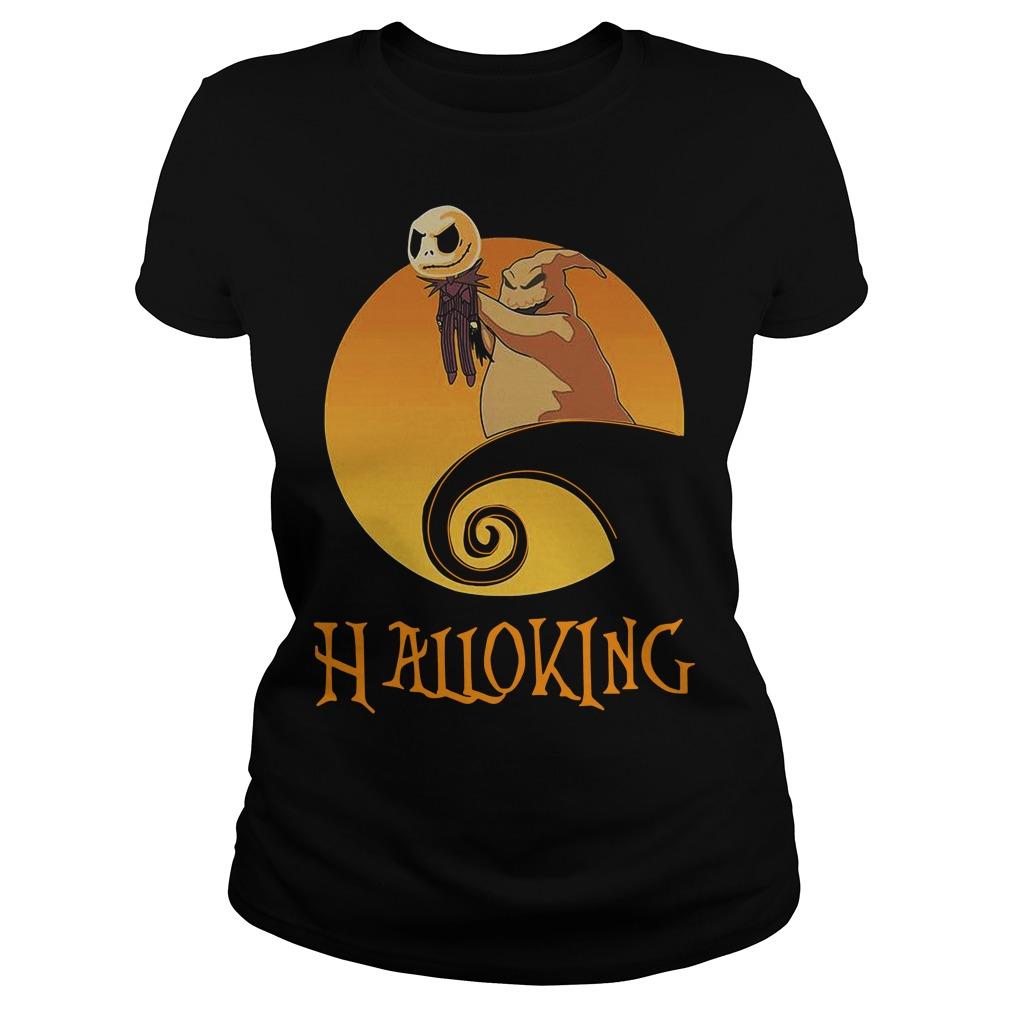 Halloking Halloween Jack Skellington Ladies Tee