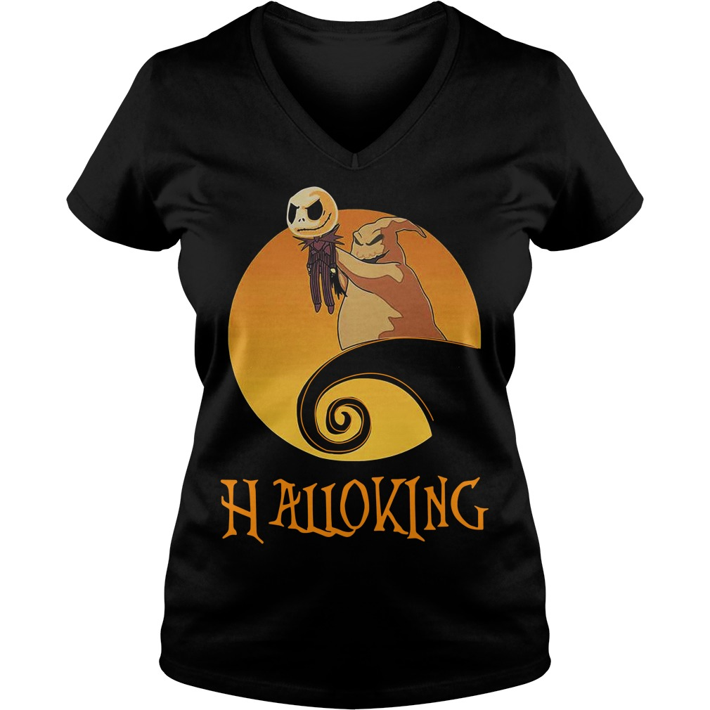 Halloking Halloween Jack Skellington V-neck T-shirt