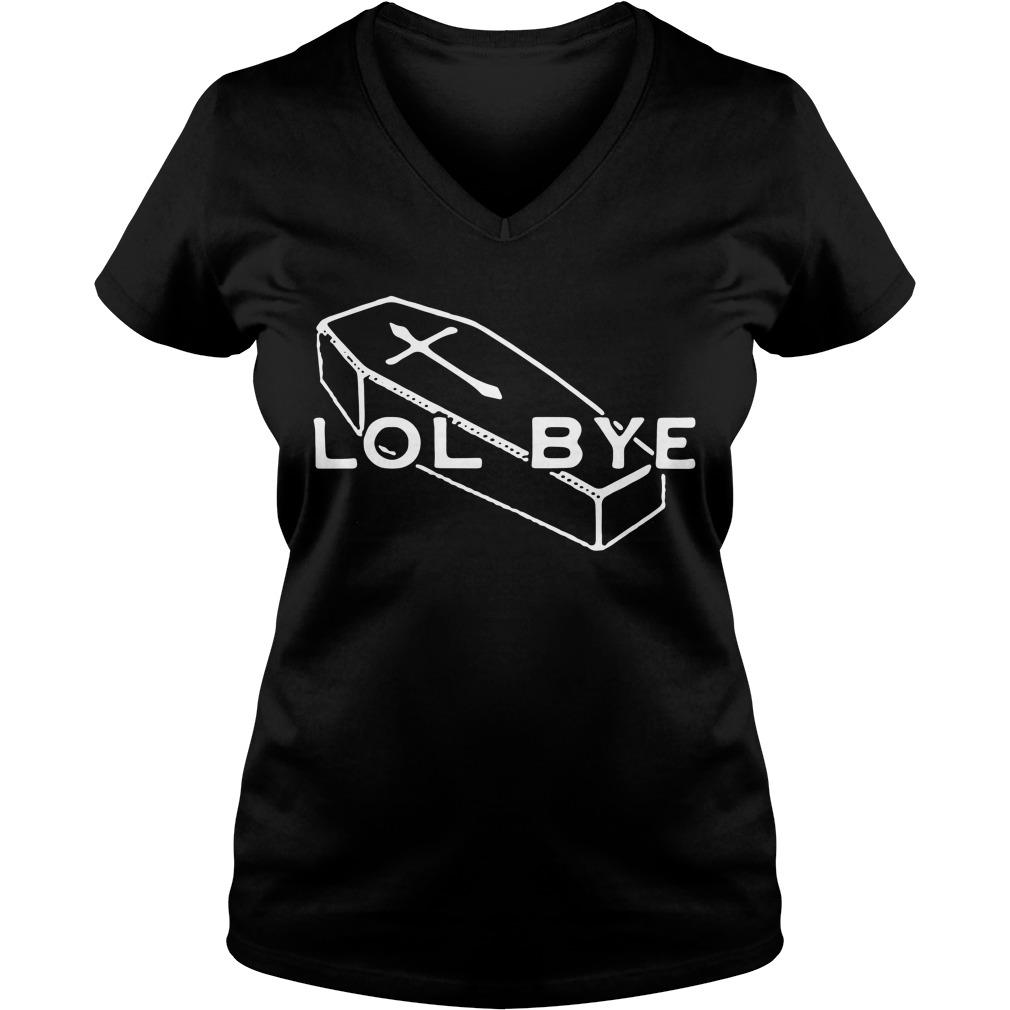 Halloween coffin lol bye V-neck T-shirt