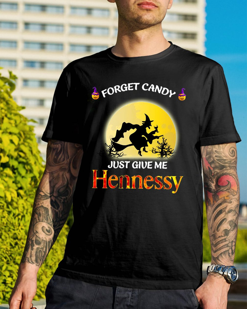 Halloween forget candy just give me Hennessy shirt