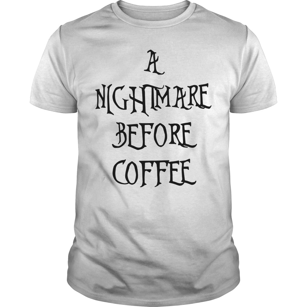 Halloween a nightmare before coffee Guys Shirt