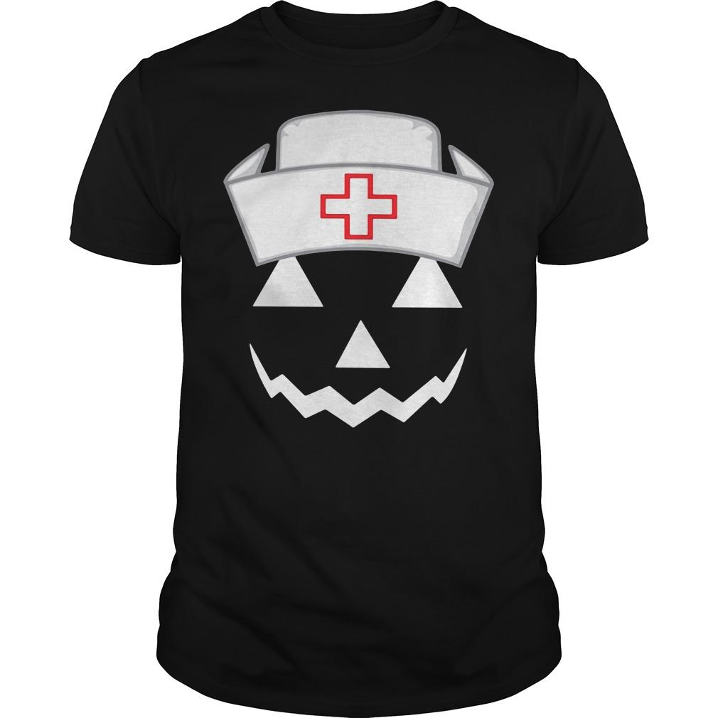 Halloween pumpkin nurse Guys Shirt