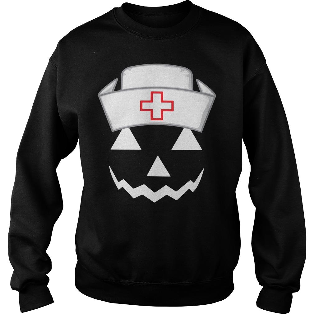 Halloween pumpkin nurse Sweater