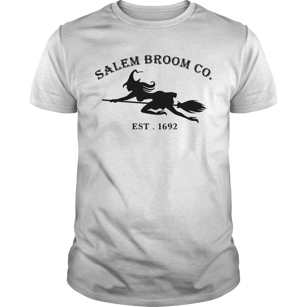 Halloween Salem broom co. EST. 1692 Guys Shirt
