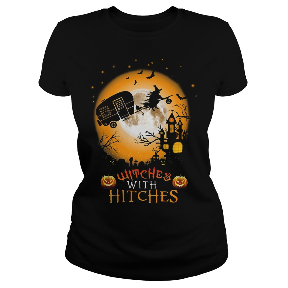 Halloween witches with hitches Ladies Tee