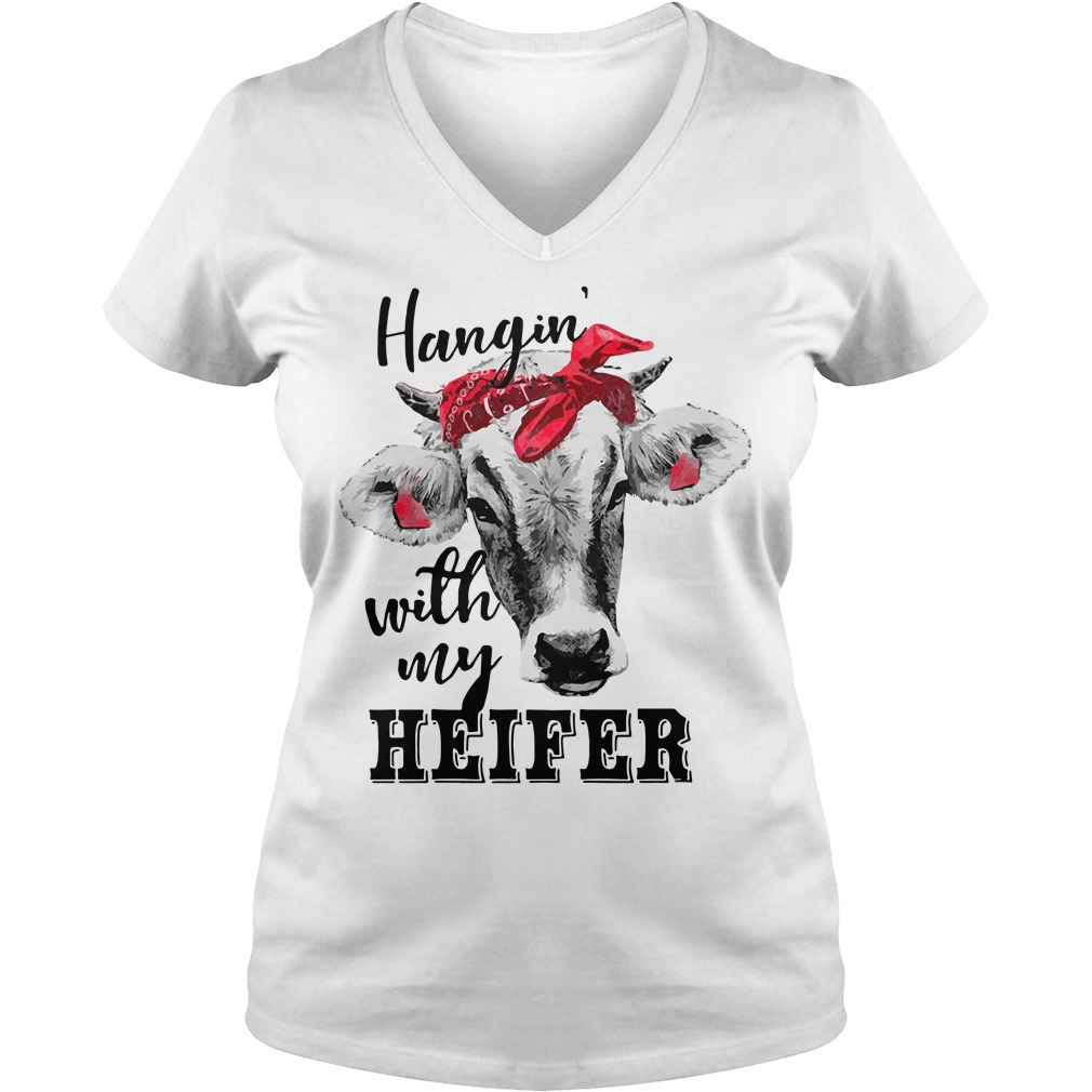 Hangin' with my Heifer V-neck T-shirt