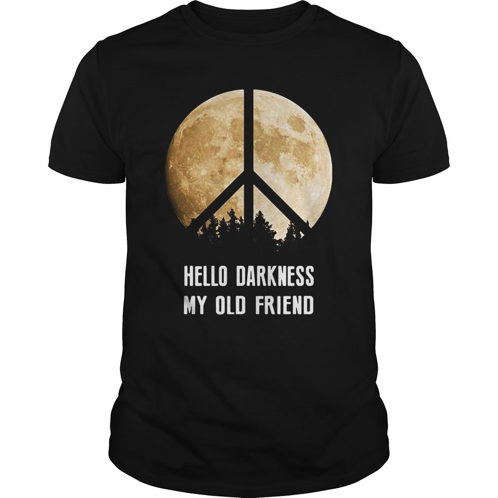 Hippie moon hello Darkness my old friend Guys Shirt