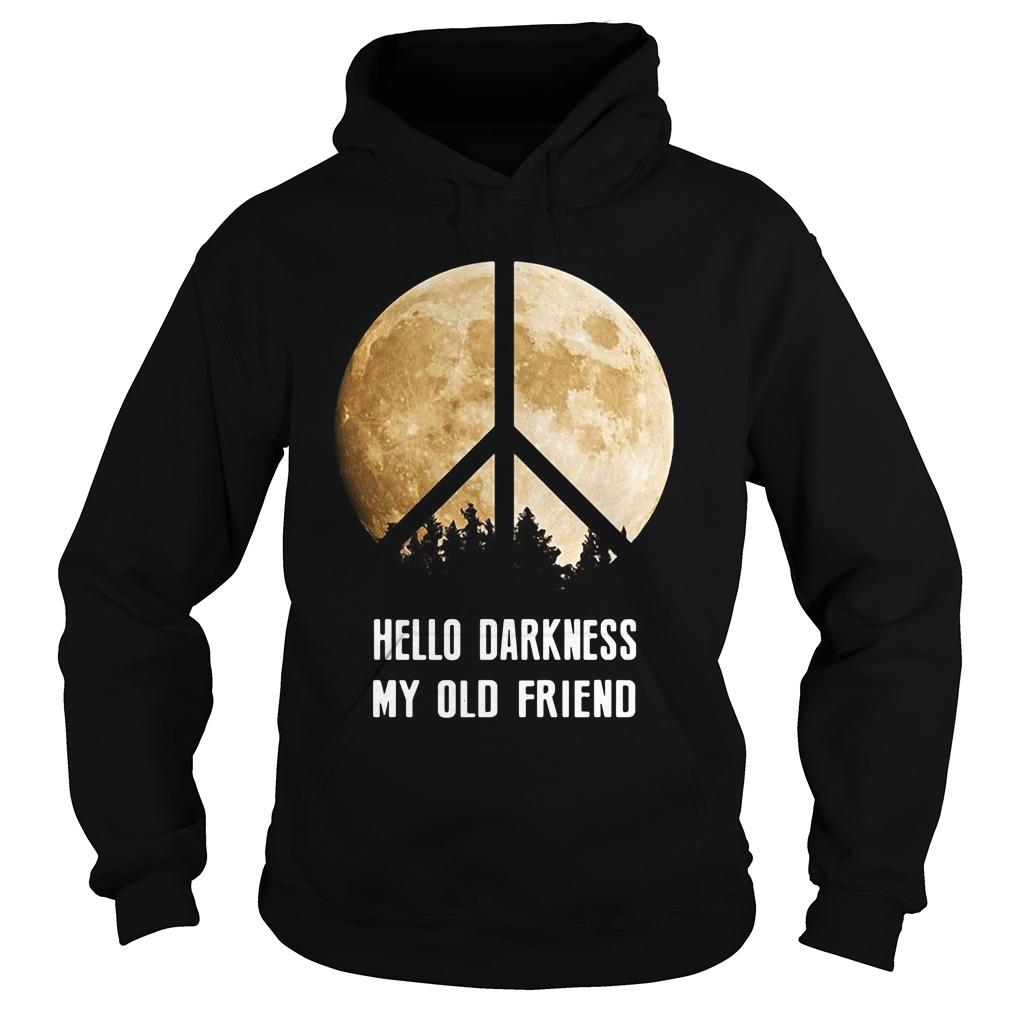 Hippie moon hello Darkness my old friend Hoodie