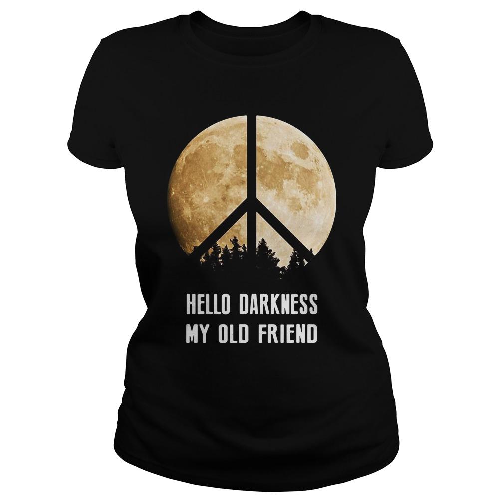 Hippie moon hello Darkness my old friend Ladies Tee
