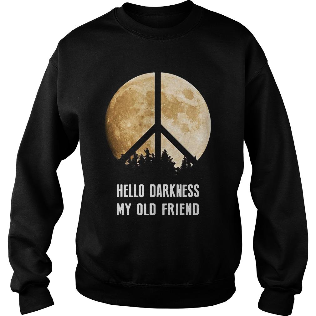 Hippie moon hello Darkness my old friend Sweater