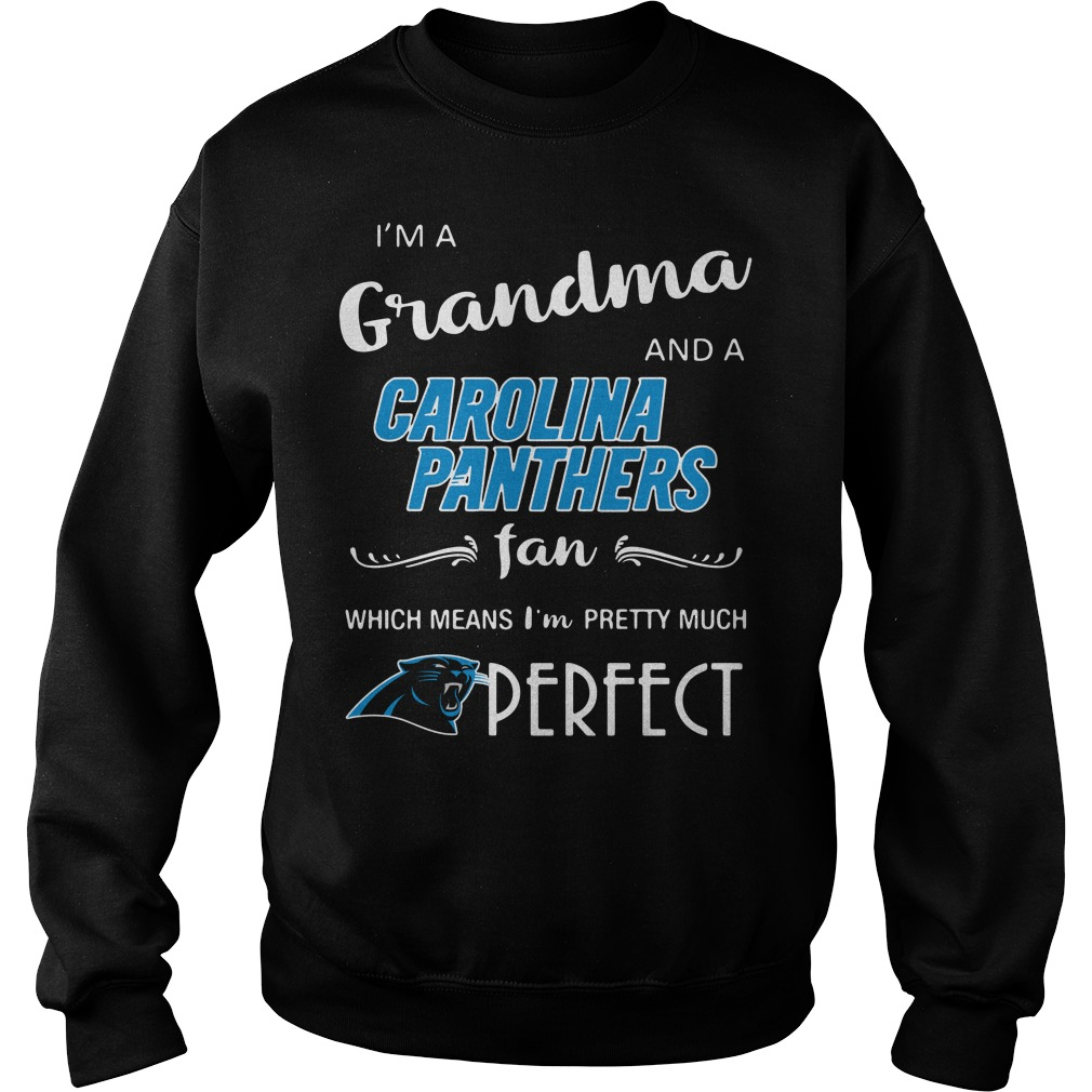 I'm a grandma and a Carolina Panthers fan which means I'm pretty Sweater