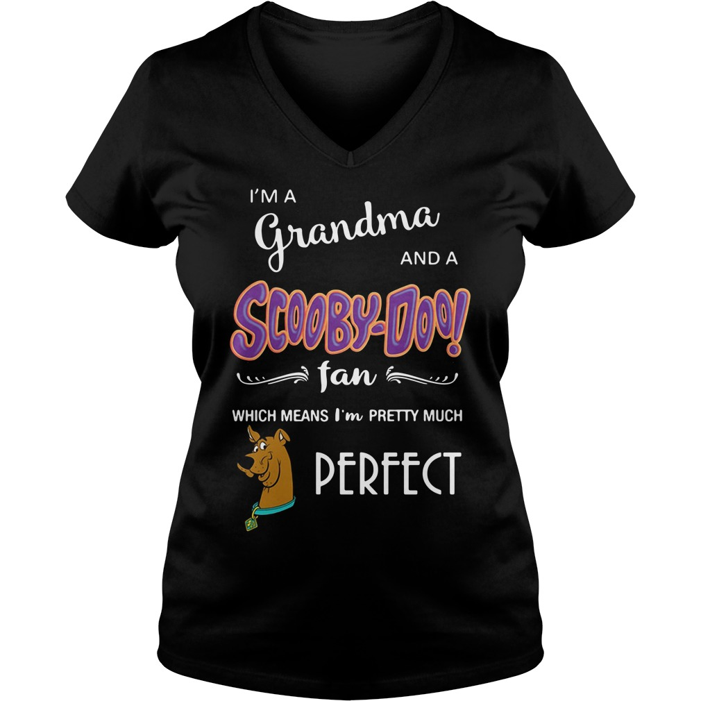 I'm a grandma and a Scooby-Doo fan which means I'm pretty V-neck T-shirt