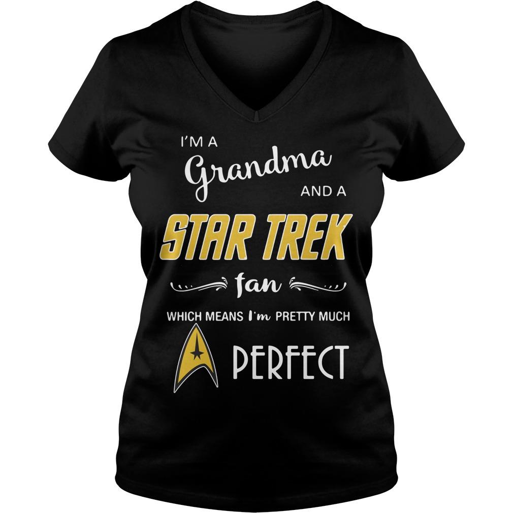 I'm a grandma and a Star Trek fan which means I'm pretty V-neck T-shirt