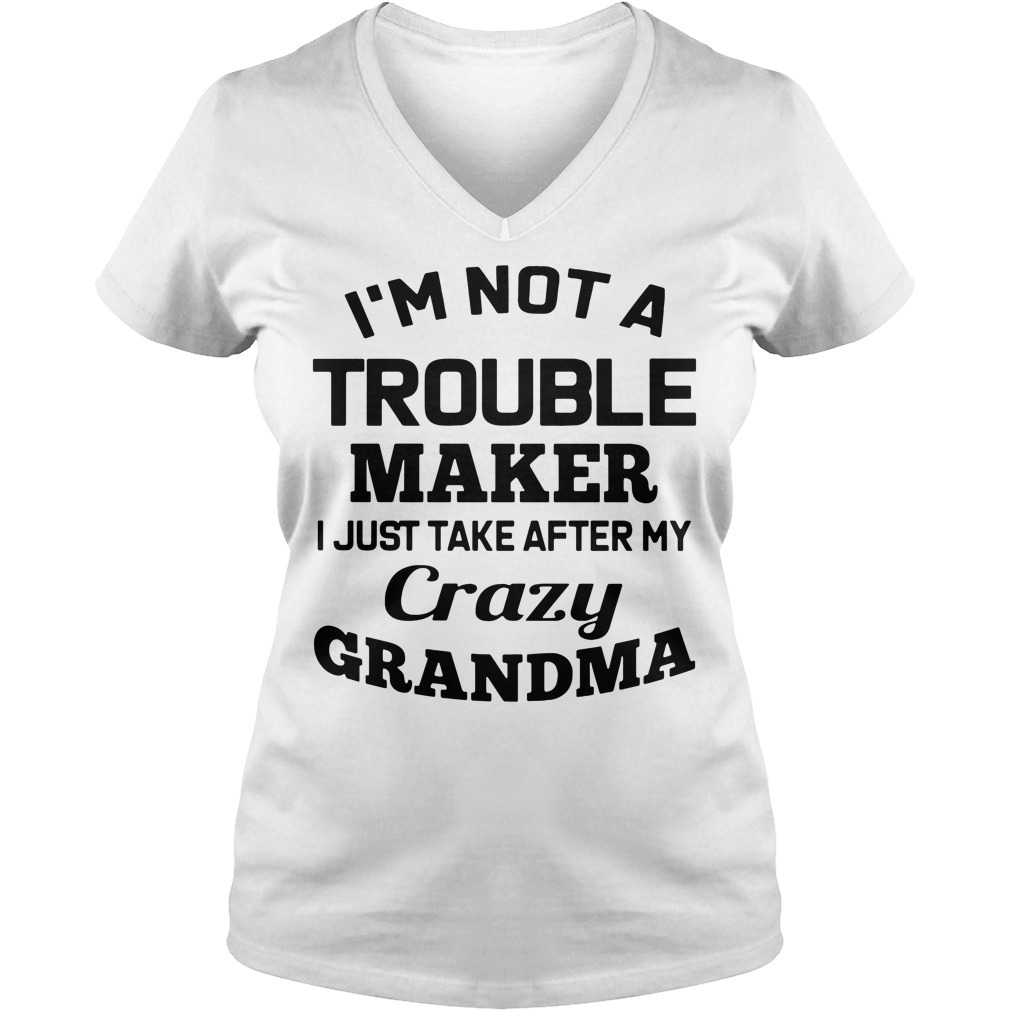 I'm not a troublemaker makers I just take after my grandma V-neck T-shirt