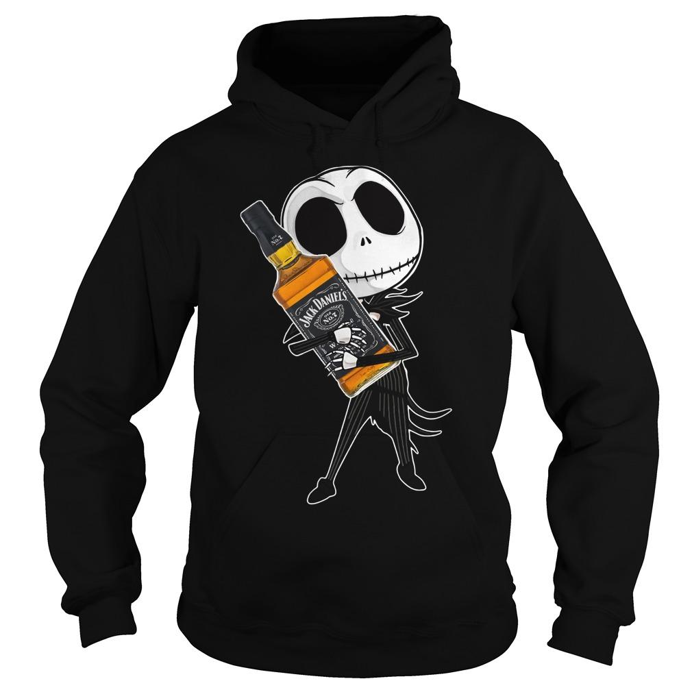 Jack Skellington hug Jack Daniel's Hoodie
