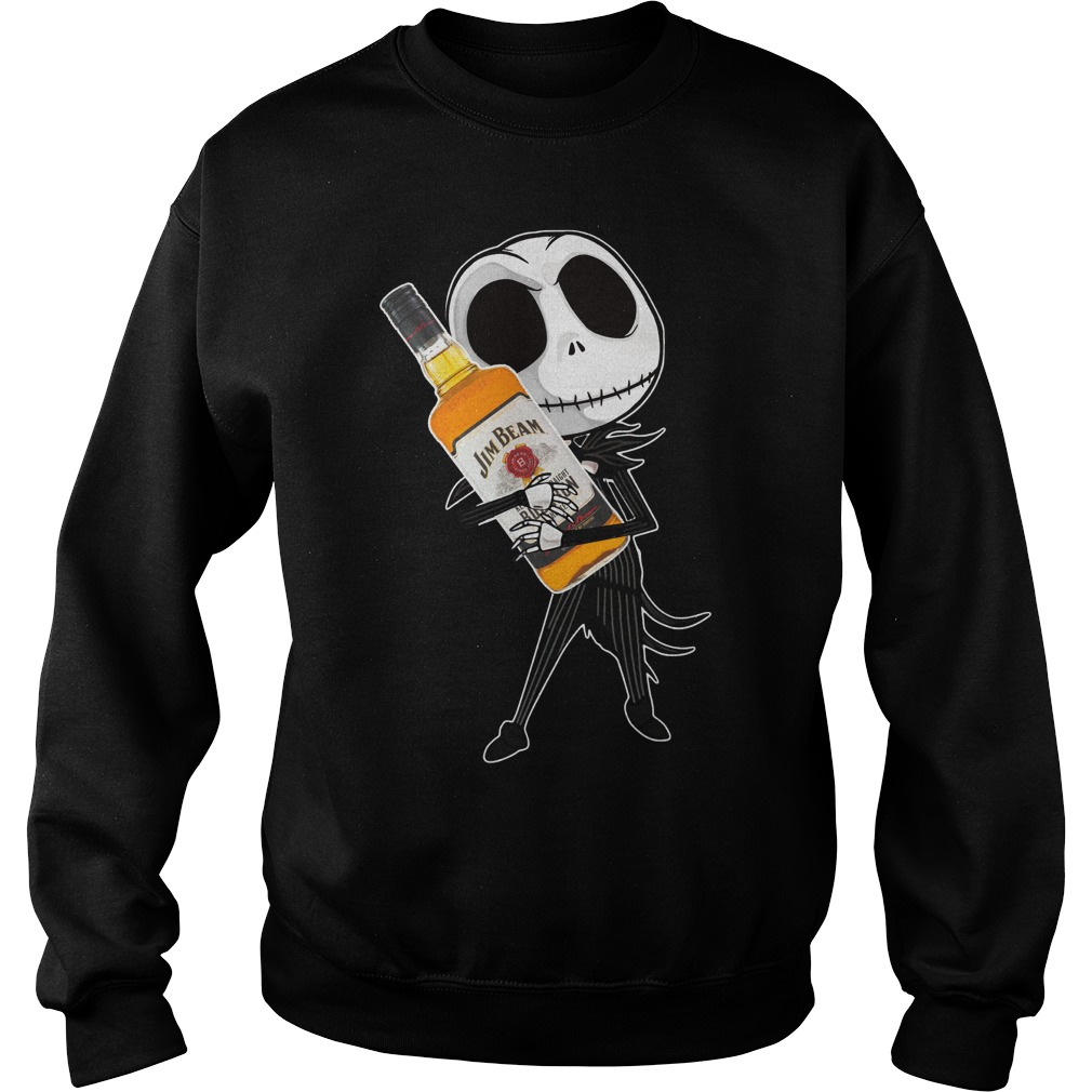 Jack Skellington hug Jim Beam Sweater