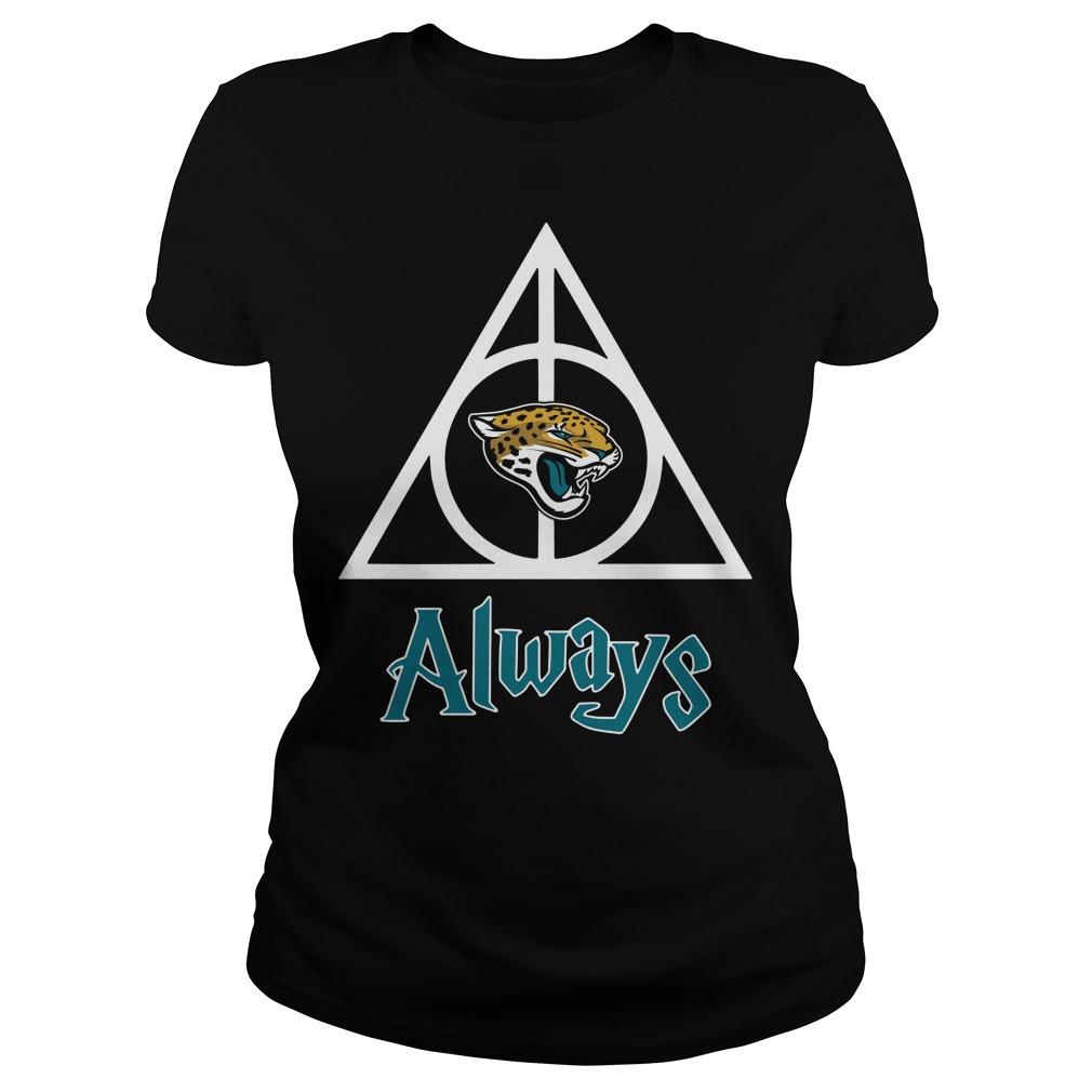 Jacksonville Jaguars Hallows always Harry Potter Ladies Tee