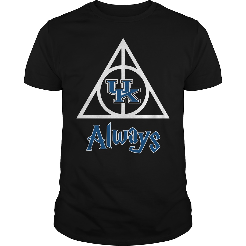 Kentucky Wildcats Deathly Hallows always Harry Potter Guys Shirt