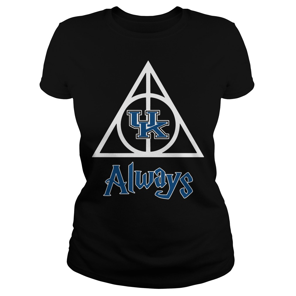 Kentucky Wildcats Deathly Hallows always Harry Potter Ladies Tee