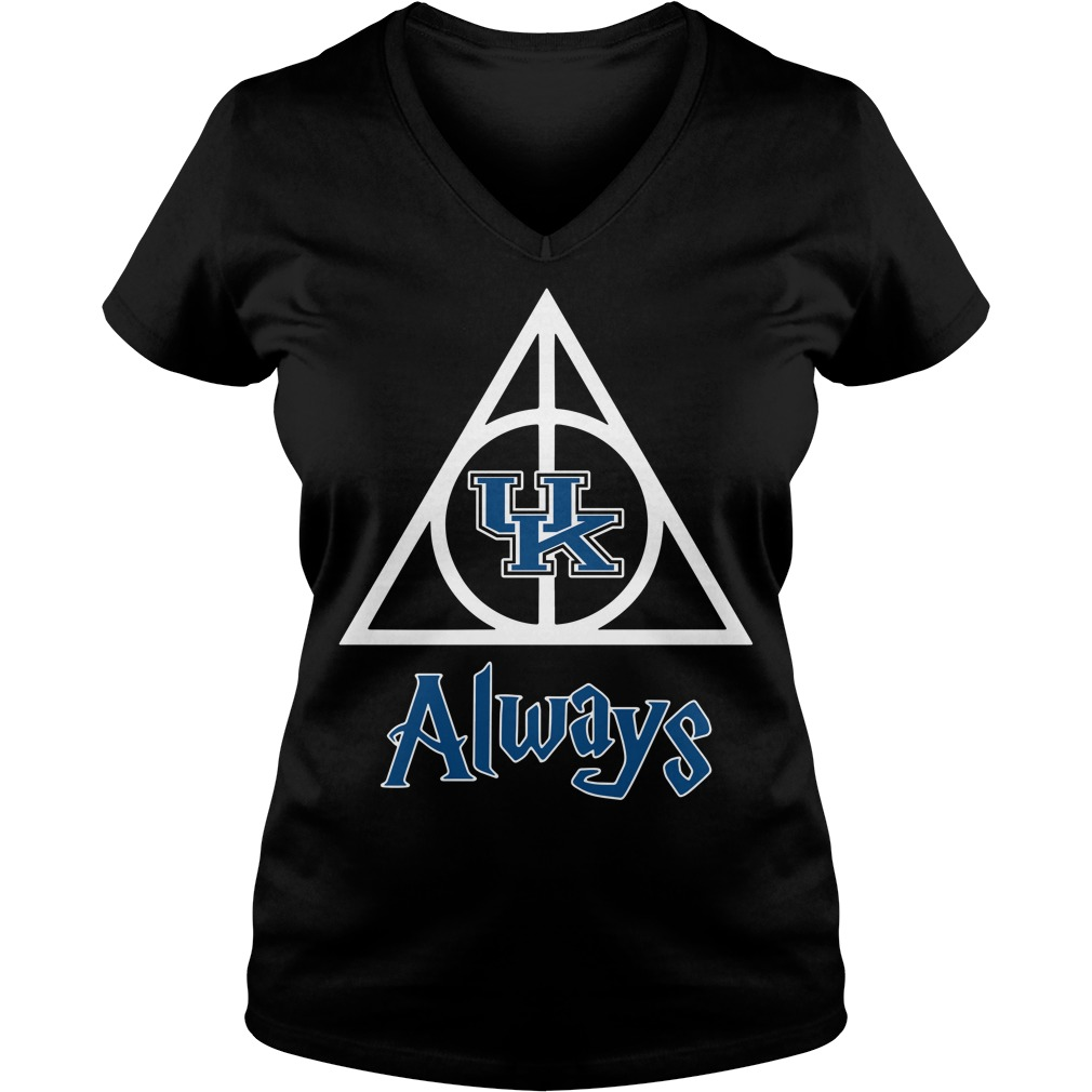 Kentucky Wildcats Deathly Hallows always Harry Potter V-neck T-shirt