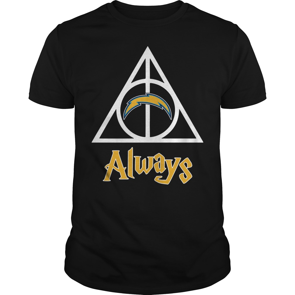 Los Angeles Chargers Deathly Hallows Always Harry Potter Guys Shirt
