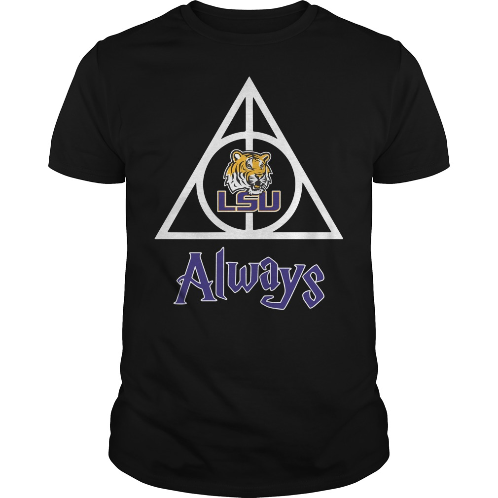 LSU Tigers Deathly Hallows always Harry Potter Guys Shirt